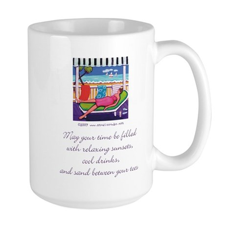 Sand Between your Toes Large Mug