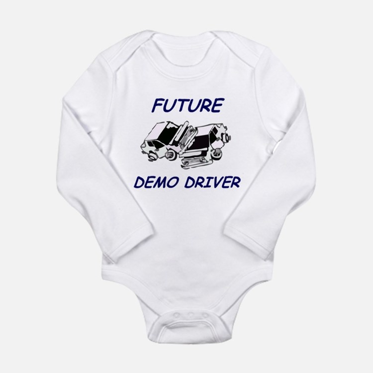 Cute Demolition derby Long Sleeve Infant Bodysuit