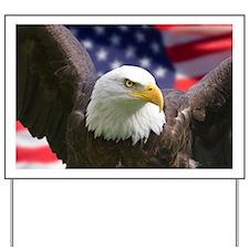 American Flag Eagle Yard Sign