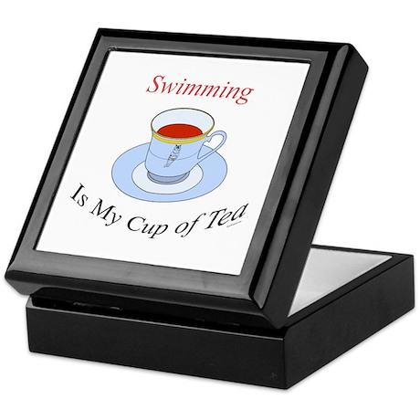 Swimming is my cup of tea Keepsake Box