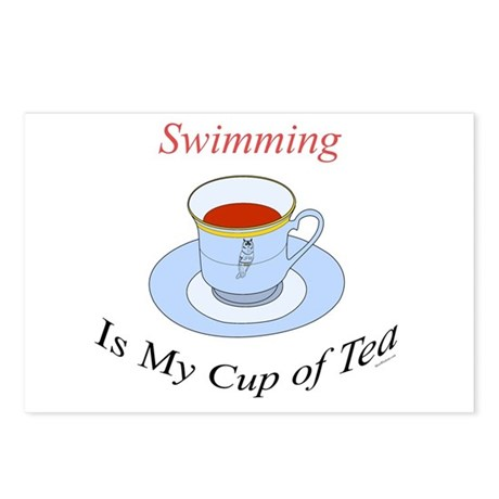 Swimming is my cup of tea Postcards (Package of 8)