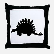 Stegosaurus Silhouette Throw Pillow