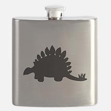 Stegosaurus Silhouette Flask