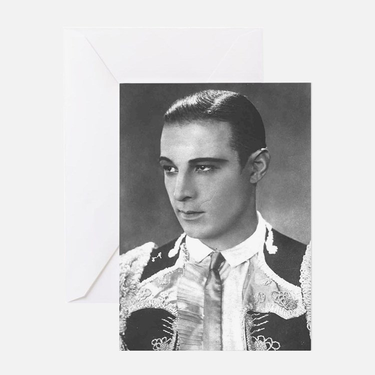 rudolph valentino Greeting Cards