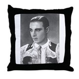 Rudolph valentino Throw Pillows