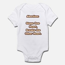 Glowing Hot Abortion Infant Bodysuit