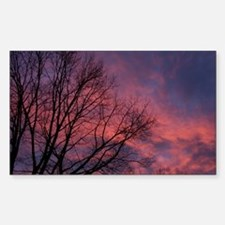 Skies on Fire Rectangle Decal