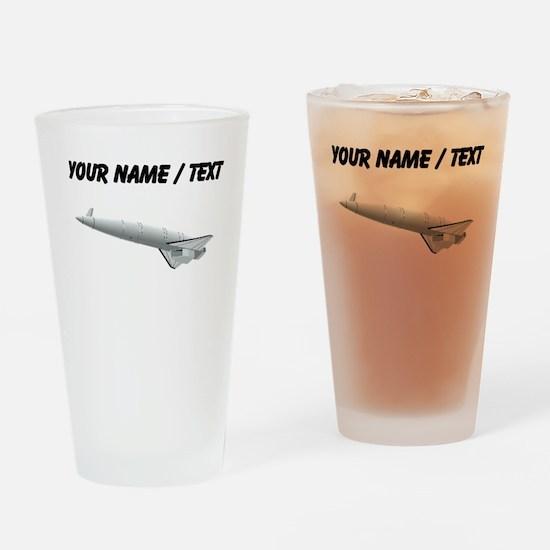 Space Rocket (Custom) Drinking Glass