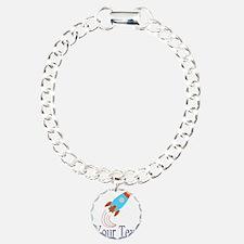 Rocket Ship Personalizable Bracelet