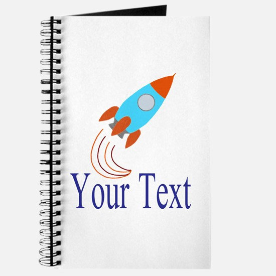 Rocket Ship Personalizable Journal