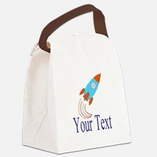 Rocket Ship Personalizable Canvas Lunch Bag