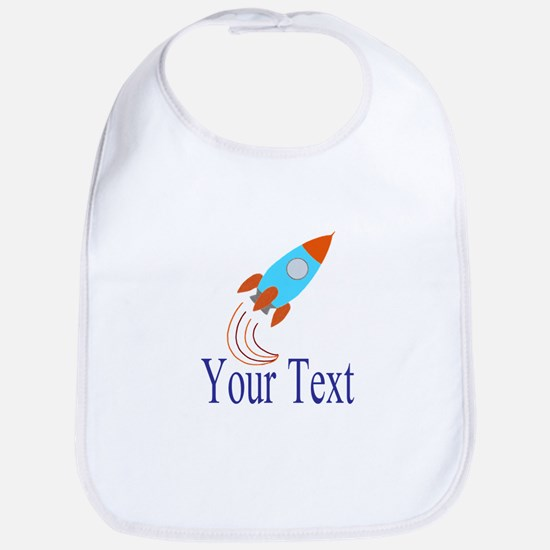 Rocket Ship Personalizable Bib