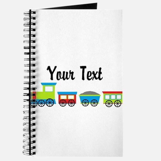 Personalizable Choo Choo Train Journal
