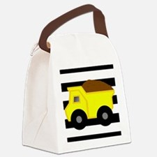 Dump Truck Black and White Canvas Lunch Bag