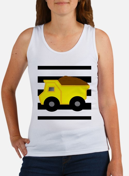 Dump Truck Black and White Tank Top