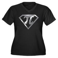 Unique Math funny Women's Plus Size V-Neck Dark T-Shirt