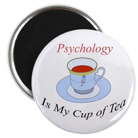 "Psychology is my cup of tea 2.25"" Magnet (10 pack)"