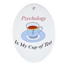 Psychology is my cup of tea Oval Ornament
