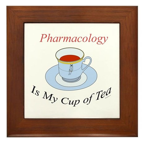 Pharmacology is my cup of tea Framed Tile