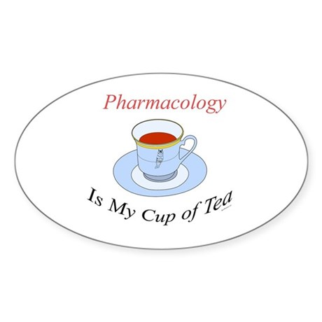 Pharmacology is my cup of tea Oval Sticker