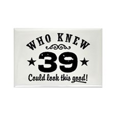 Funny 39th Birthday Rectangle Magnet