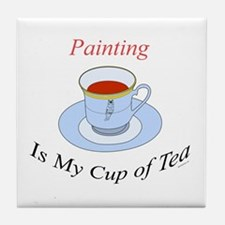 Painting is my cup of tea Tile Coaster