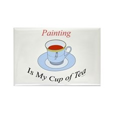 Painting is my cup of tea Rectangle Magnet