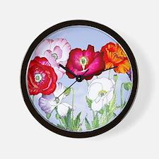 Dazzlin' Poppies Wall Clock