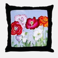 Dazzlin' Poppies Throw Pillow