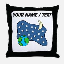 Earth Stars Moon (Custom) Throw Pillow