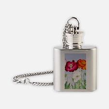 Dazzlin' Poppies Flask Necklace