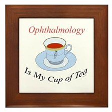 Ophthalmology is my cup of te Framed Tile