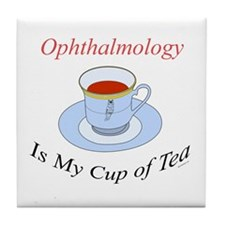Ophthalmology is my cup of te Tile Coaster