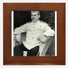 joseph stalin Framed Tile