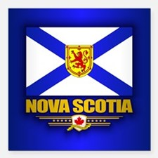 "Nova Scotia Flag Square Car Magnet 3"" x 3"""