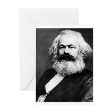 karl marx Greeting Cards
