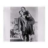 Bonnie and clyde Fleece Blankets