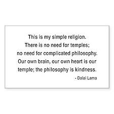 Dalai Lama 1 Rectangle Decal