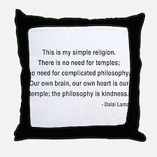 Dalai Lama 1 Throw Pillow