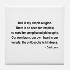 Dalai Lama 1 Tile Coaster