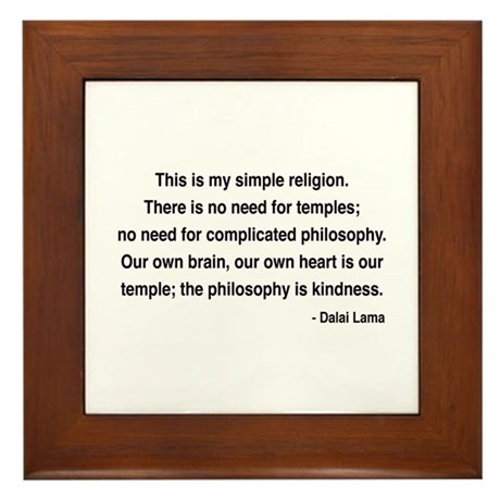 Dalai Lama 1 Framed Tile