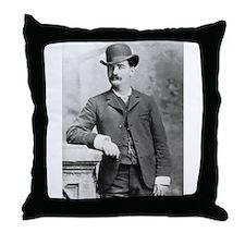 bat masterson Throw Pillow