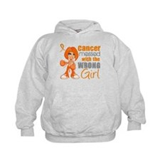 Leukemia Messed With Wrong Girl Hoodie