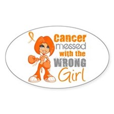 Leukemia Messed With Wrong Girl Decal