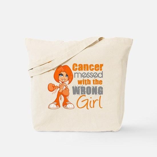 Leukemia Messed With Wrong Girl Tote Bag