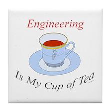 Engineering is my cup of tea Tile Coaster