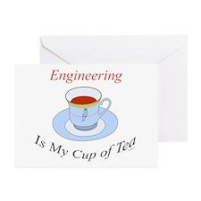 Engineering is my cup of tea Greeting Cards (Packa
