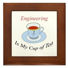 Engineering is my cup of tea Framed Tile