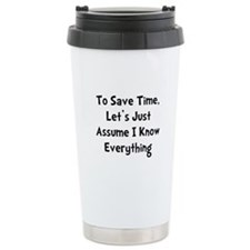 Cute Know it all Travel Mug