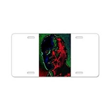 Distorted Memory Aluminum License Plate